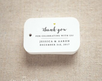 Thank you for celebrating with us Wedding Personalized Gift Tags Wedding Favor Tags Thank you tags - Set of 24 (Item code: J720)
