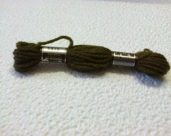 7425 A dark green Colbert tapestry wool