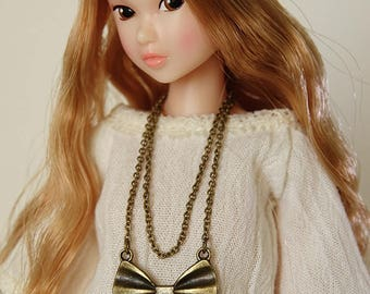 Bow necklace - Handmade jewerly for Momoko and 1/6 fashion dolls