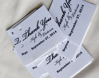 Wedding Favors, Thank You Tags, With holes, Ribbons Optional