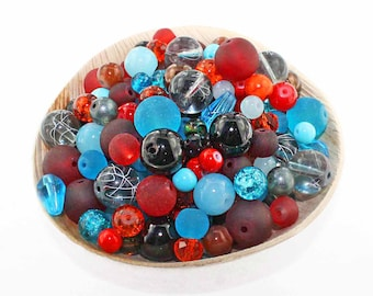 Glass Bead Mix Assorted 25 Southwest Color Combination 6mm to 12mm - BMX016