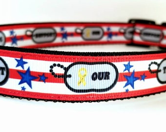 Support our troops! Dog collars