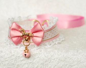 Golden Unicorn - collar for pet play, kitten play, age play, ddlg, abdl, bdsm, lolita