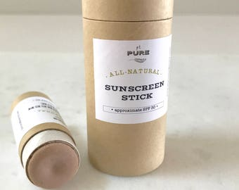 Organic Natural Sunscreen Stick SPF 30