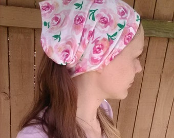 Adult rose printed head cover