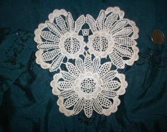 1 cotton 1920s antique lace applique