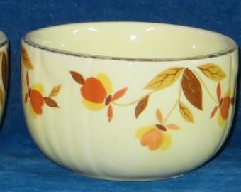 3 Jewel Tea Autumn leaf custard bowls