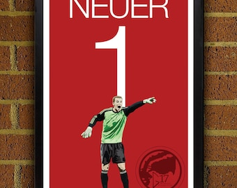 Manuel Neuer 1 Bayern Football - Soccer Poster 8x10, 13x19, print, art, home decor, wall decor, germany, world cup, Munich FC