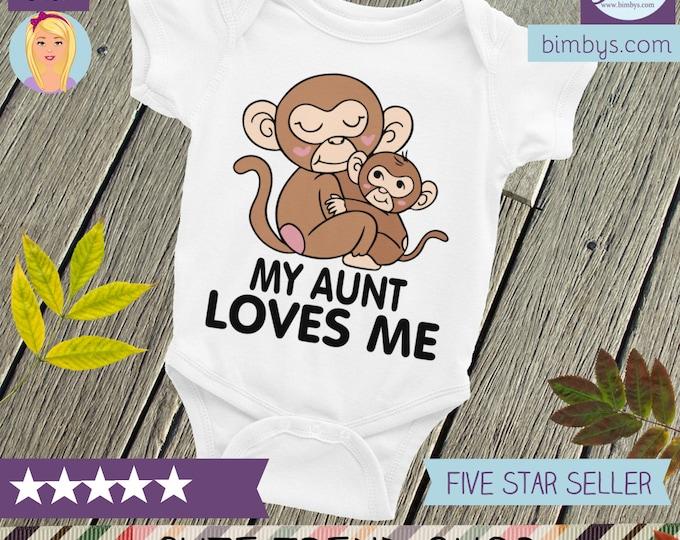 My AUNT LOVES me Baby ONESIE® , My Aunt Loves Me, My auntie loves me, Aunt baby clothes, Aunt shirt, I love my aunt, My auntie loves me