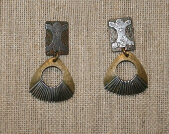 Marjorie Baer Mixed Metals Textured Post EarringsPlus Free USA Shipping!