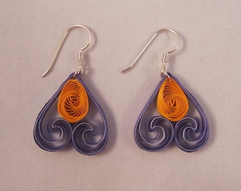 Paper Quilled Heart Earrings