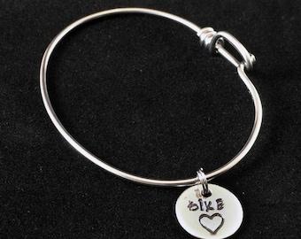 Bike Heart Charm Bicycle Spoke Bracelet