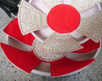 Flower Power pan protection PDF sewing pattern - easy sewing pattern - frying pan cozy pattern - instant download sewing pattern