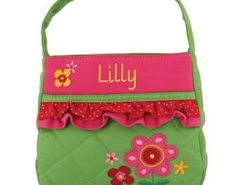 Personalized Kids Flower Purse, Toddler Kid's Flower Purse, Birthday Gift, Girl's Monogrammed Flower Girl Purse