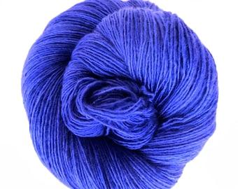 violet / hand dyed yarn / fingering sock dk bulky yarn / super wash merino wool yarn / single or ply / choose your base / royal purple yarn