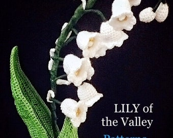 Flower Crochet Pattern, lily of the valley flower pdf, bouquet white patterns, crochet flower pdf, DIY wedding bouquet, liy of the valley