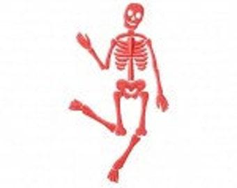 Dancing Skeleton Machine Embroidery Design