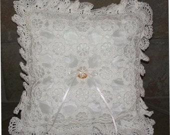 Crochet Pattern-Floral Crochet Ring Bearer Pillow