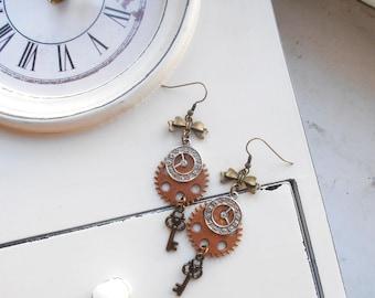 Clockwork Steampunk Earrings