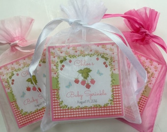 Baby girl, shower favors, party favors,  soap favors,  set of 10, Berry theme