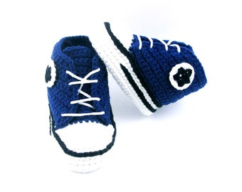 READY TO SHIP Crochet baby shoes Baby sneakers Baby booties Shoes for baby , Baby boy shoes Athletic shoes Baby booties crochet 0-3 months