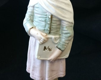 Antique German Bisque Girl Figurine Lady Sculpture Late 1800's - Early 1900's