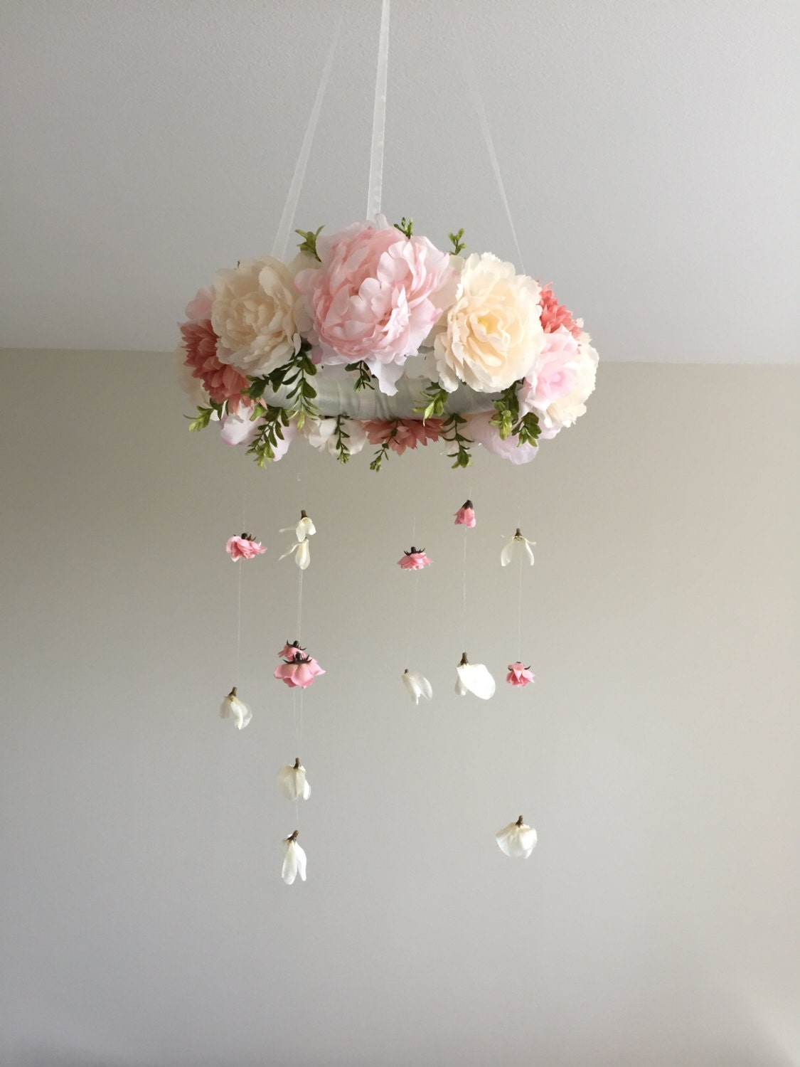 Floral mobile flower mobile flower baby mobile nursery zoom arubaitofo Image collections