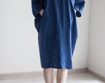Linen oversized dress - tunic/Handmade by elen'do