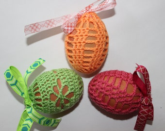 Set of 3,Handmade Crochet Easter Egg Covers, Easter Decoration