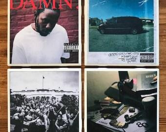 Kendrick Lamar Album Coasters