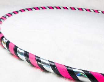 Rainbow Pink 3 Tone Classic Fitness & Dance Hoop | 6 Month FREE Replacement Warranty!