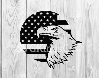 Eagle svg, us flag svg, american flag svg, 4th of july svg, fourth of july svg, independence svg, usa svg, svg files for cricut, svg, dxf