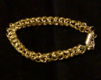 Nickel Box Weave Chainmaille Bracelet