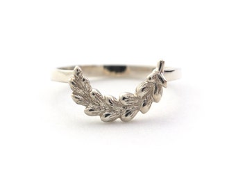 Harvest Wheat Stacking Ring in Sterling Silver