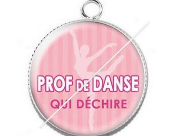 Pendant cabochon resin for a dance teacher 2