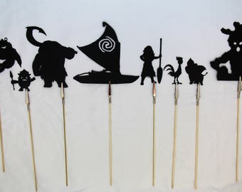 Island Princess Shadow Puppets