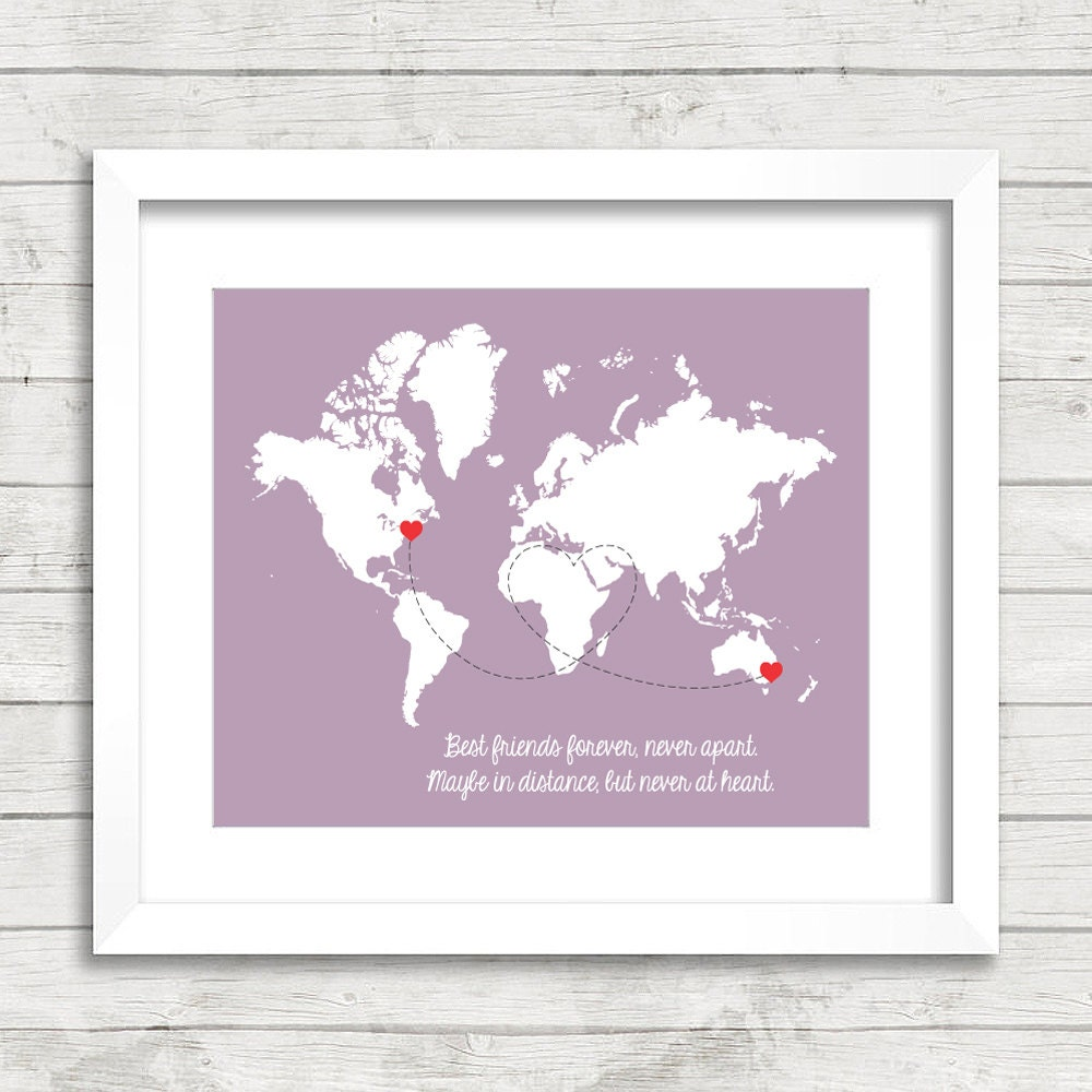Best friends world map maybe in distance but never at heart zoom gumiabroncs Choice Image