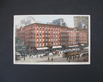1912 Phostint Postcard, Grand Union Hotel, New York, NY, Detroit Publishing Co. Vintage Postcard Collector PC