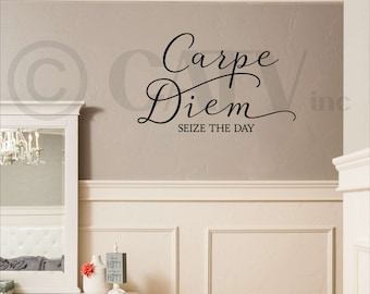 Carpe Diem seize the day vinyl lettering wall decal sticker self adhesive decals
