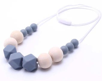 SALE - Neutral and Simple Teething Necklaces