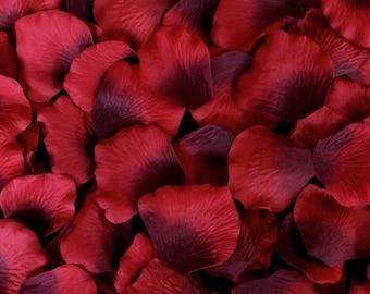 500 BURGUNDY Silk Artificial Rose Petals Wedding Favor Decoraition Flower Girl