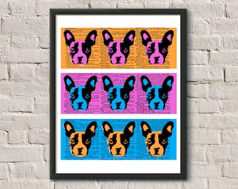 BOSTON TERRIER Pop Art Screen Print