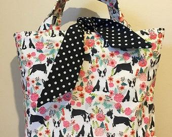 English bull terrier dog print handbag