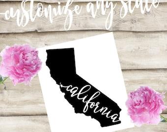 California Custom State Laptop / Phone / Car Decal