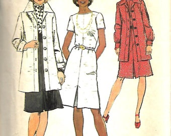 Simplicity 6177  Misses Dress And Unlined Topper Jacket Sewing Pattern, Size 18, Bust 40, UNCUT