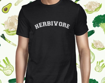 Herbivore Tee for Men - Plant-based T-shirt - Men's Vegan T Shirt - Vegetarian Shirt - Go Vegan Tee - Animal Rights Tee Shirt - Veggie Fun T