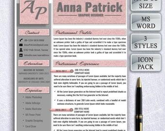 Modern Resume template, resume, modern cv, professional resume, simple resume, creative resume, resume design, instant download CV Template