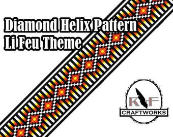 Loom Beading Pattern - Diamond Helix (Li Feu Theme)