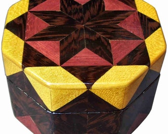 Wenge Star Octagon Box