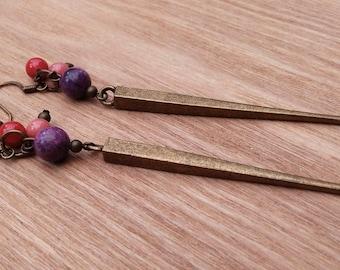 Long and elegant Bohemian inspired earrings